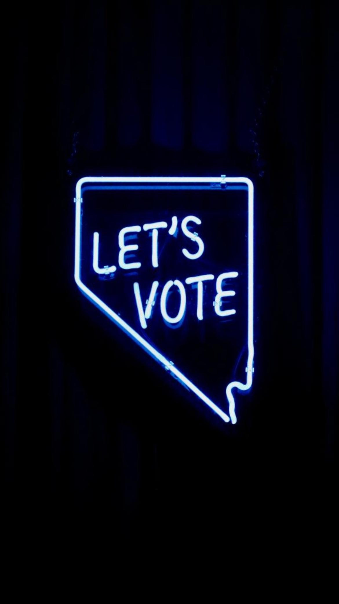 """Symbolbild mit dem Schriftzug """"Let's vote""""."""