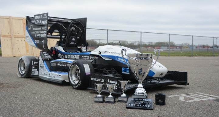 Race car with cups won